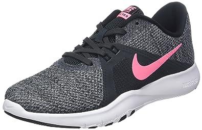 Nike W Flex Trainer 8, Chaussures de Fitness Femme, Noir (Anthracite/Impulsion Couché de Soleil/Noir/Gris Froid 006), 38 EU