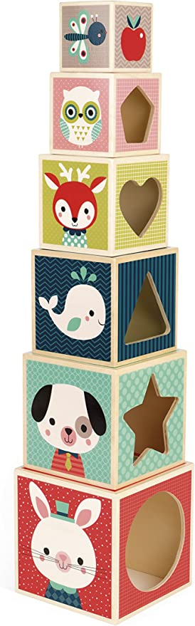 Janod My First Blocks Forest Portraits Baby Toy Juratoys US Corp Janod J08000