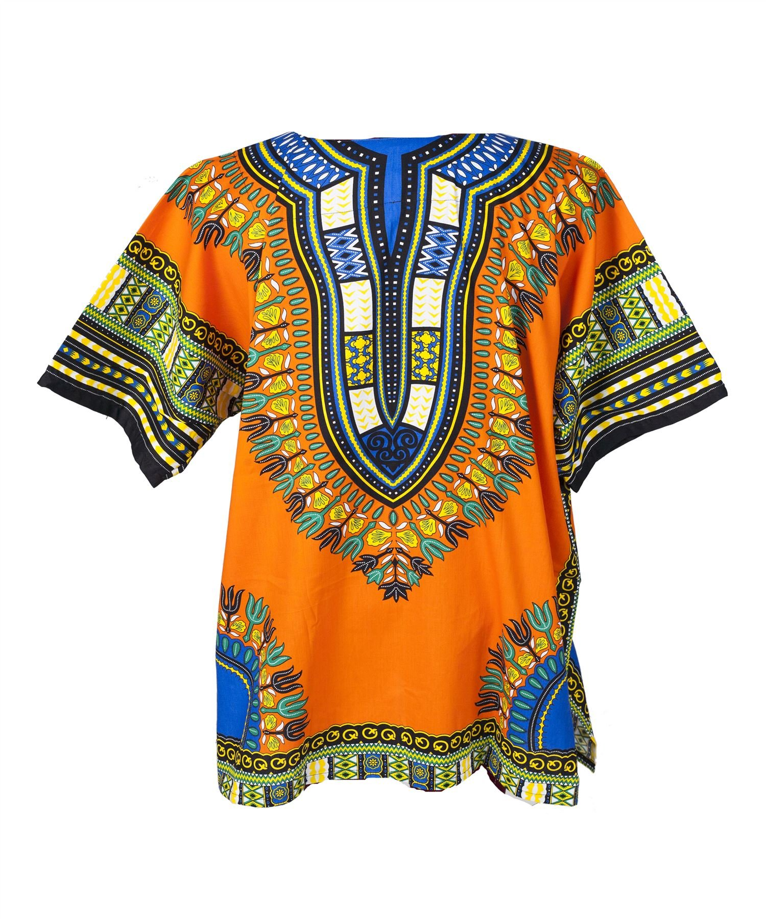 Lofbaz Traditional African Print Unisex Dashiki Size XXL Orange by Lofbaz (Image #2)