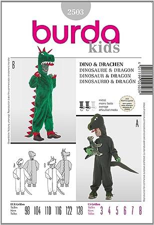 Burda Schnittmuster 2503 Dino & Drachen Gr. 98-128: Amazon.de: Küche ...