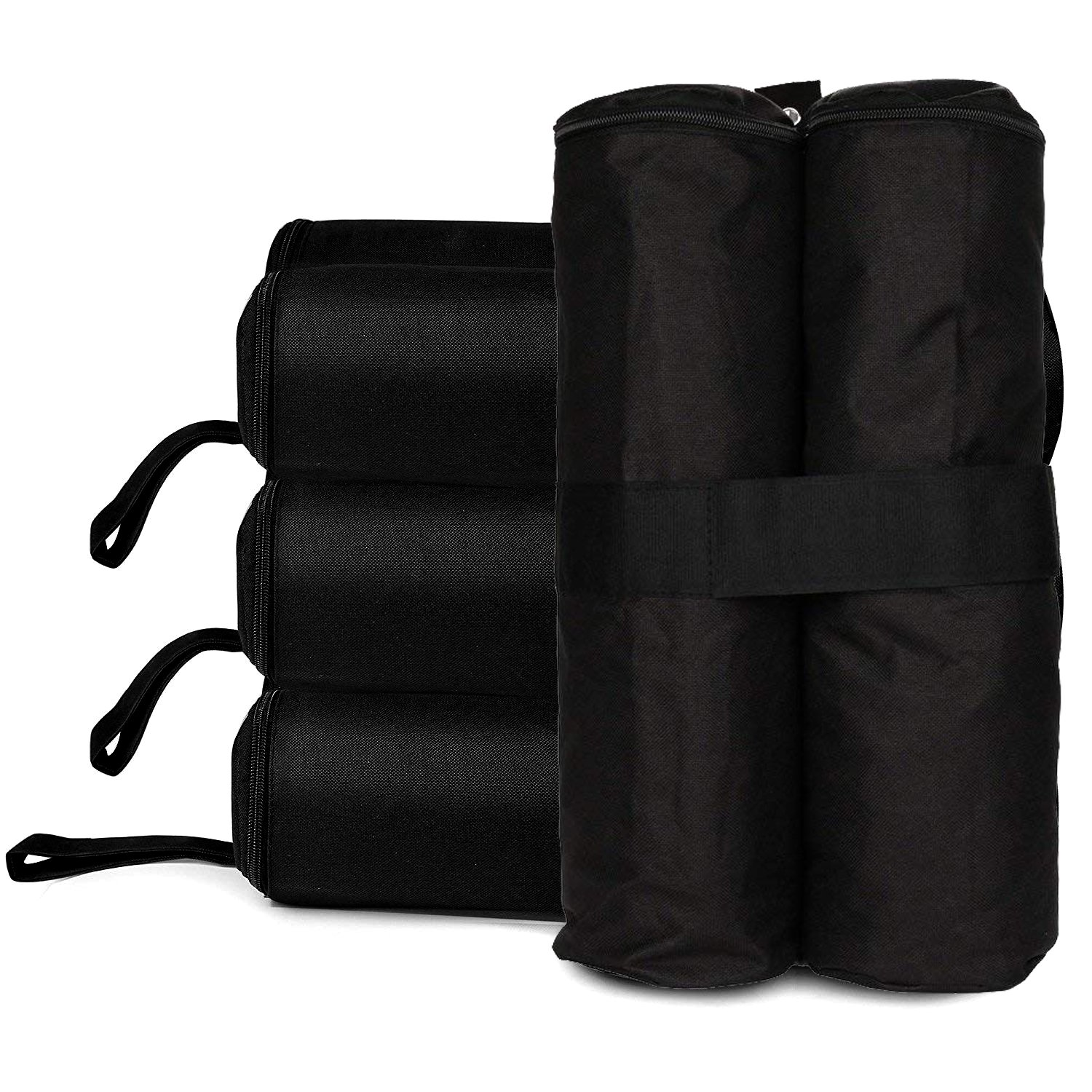 RONGT 60 Lbs Canopy Tent Weight Bags, Water-Proof Pop Up Canopy Tent Sand Bags for Instant Outdoor Sun Shelter Canopy Legs (Four Set)