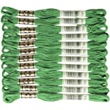 DMC Thread Six Strand Embroidery Cotton 8.7 Yards Ultra Dark Pistachio Green 117-890 12-Pack Bulk Buy
