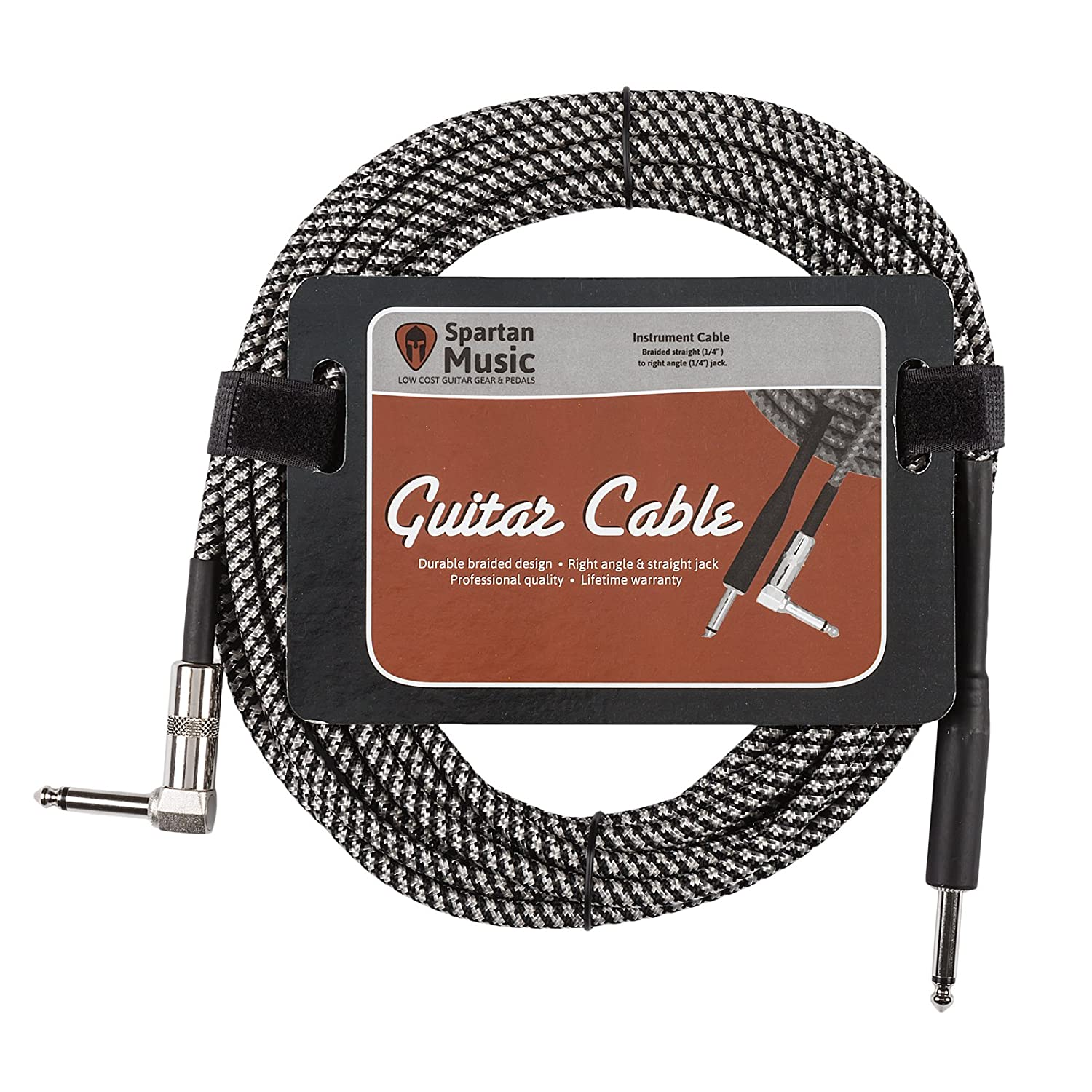 3 Meter Braided Right Angled Jack Guitar Cable Lead Wiring Musical Instruments