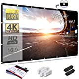 Mdbebbron 120 inch Projection Screen 16:9 HD Foldable Anti-Crease Portable Projector Movies Screen for Home Theater Outdoor I