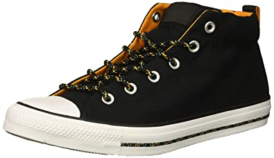 6a18db3077ab Converse Men s Chuck Taylor All Star Street Mid Sneaker Black White