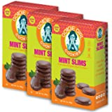 Goodie Girl Cookies Mint Slims Chocolate Mint Wafer Fudge Covered Cookies, Peanut Free and Gluten Free, Egg Free Delicious Snack Cookies (7oz Box, Pack of 3)