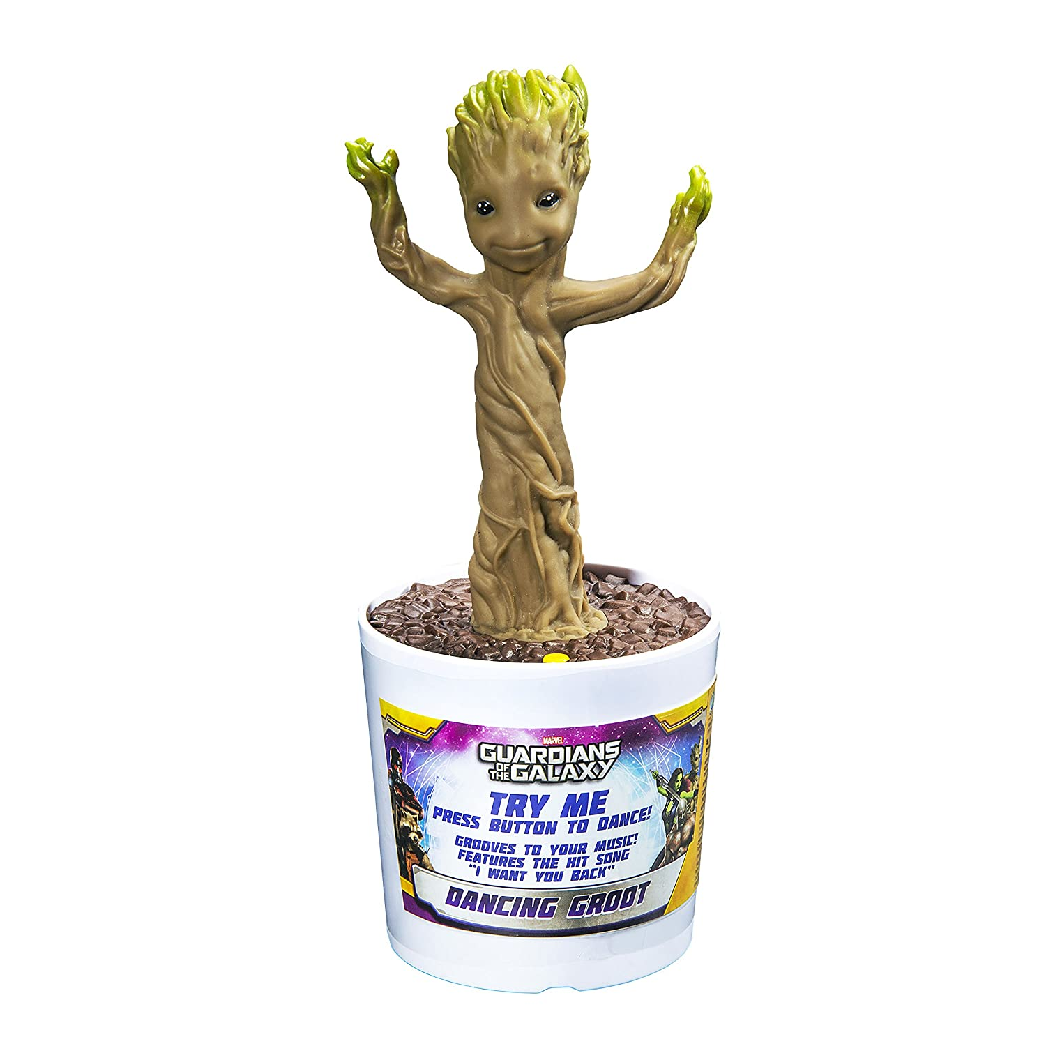 Zappies - Guardiani della galassia, Figurina elettrica di Groot danzante Kid Designs GG-408.UM