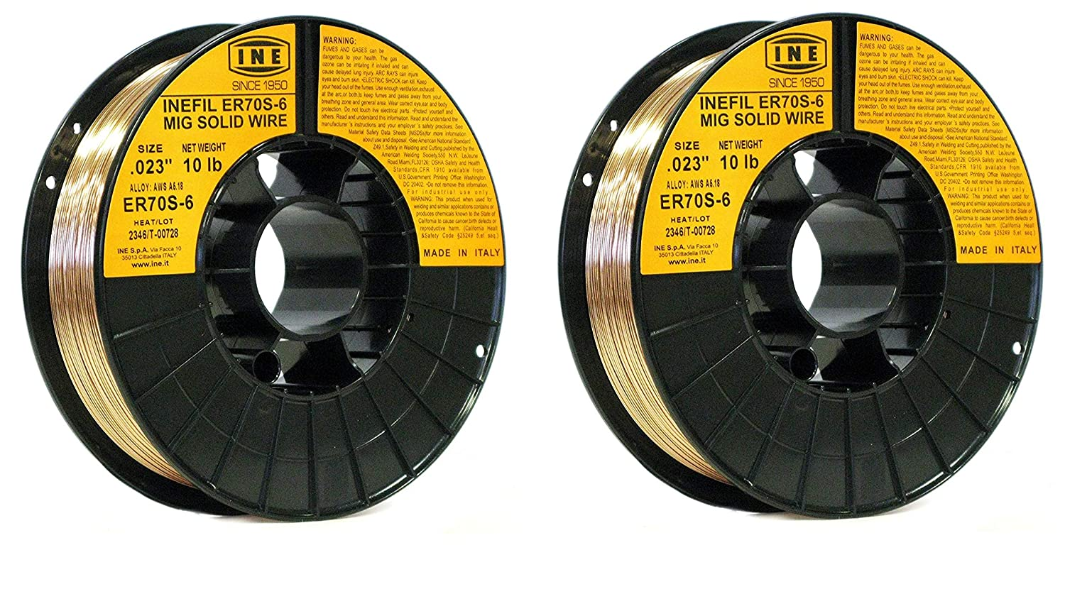 INEFIL ER70S-6 .023-Inch on 10-Pound Spool Carbon Steel Mig Solid Welding Wire (2-Pack) - - Amazon.com