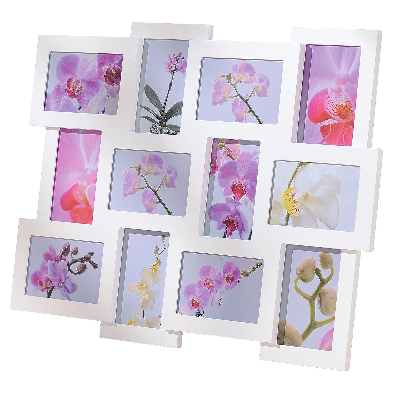 Amazon.de: Bilderrahmen Collage für 12 Fotos á 10 x 15 cm Holz/Glas Weiß