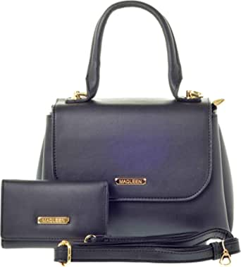 Madlein Tote Bag For Women, Faux Leather, Black