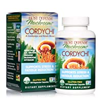 Host Defense, CordyChi Capsules, Helps Reduce Stress and Fatigue, Mushroom Supplement with Cordyceps and Reishi, Vegan, Organic, 120 Capsules (60 Servings)
