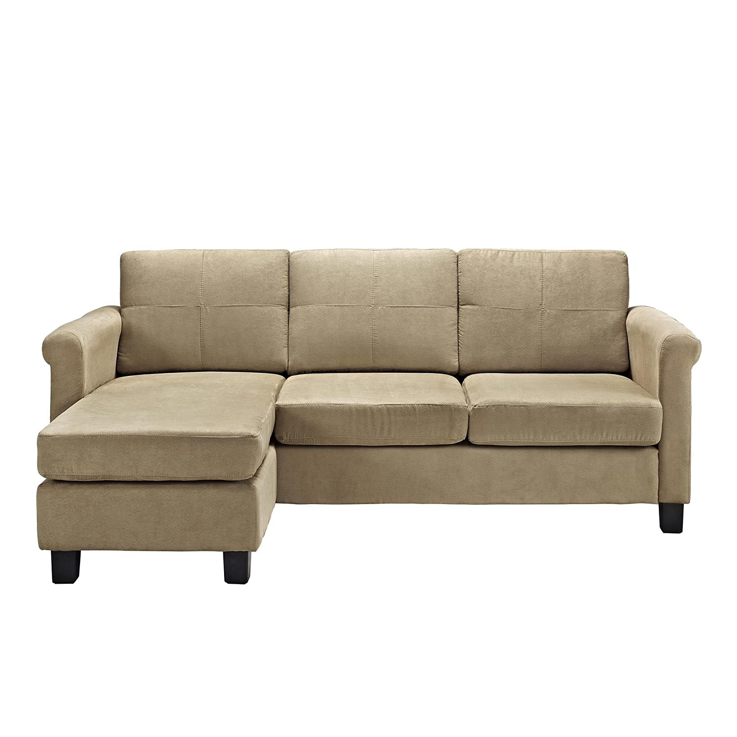 Awesome small spaces configurable sectional sofa amazon for Small sectional sofa amazon
