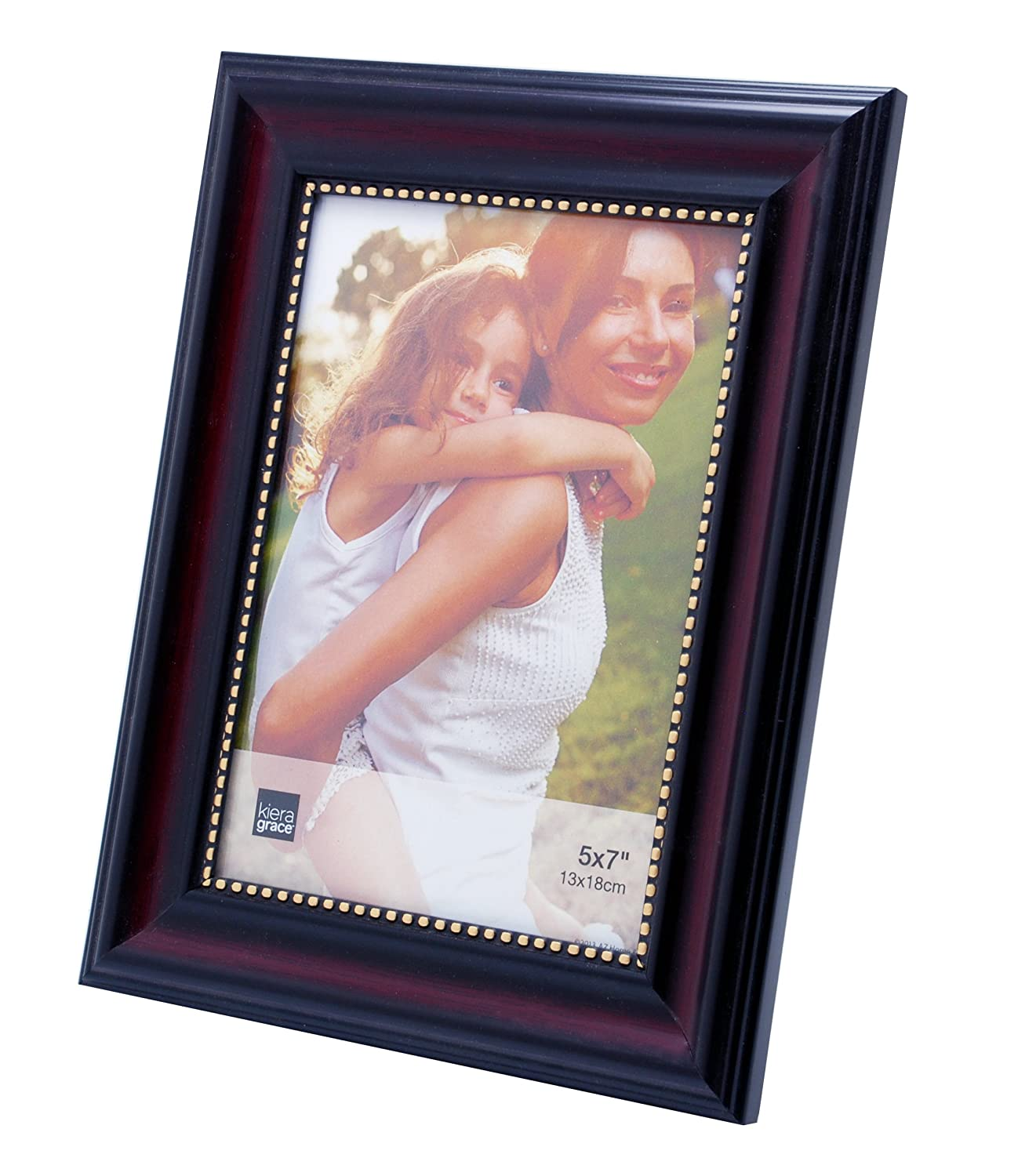 Amazon kiera grace lucy picture frame 5 by 7 inch dark amazon kiera grace lucy picture frame 5 by 7 inch dark brown with gold beading home kitchen jeuxipadfo Choice Image