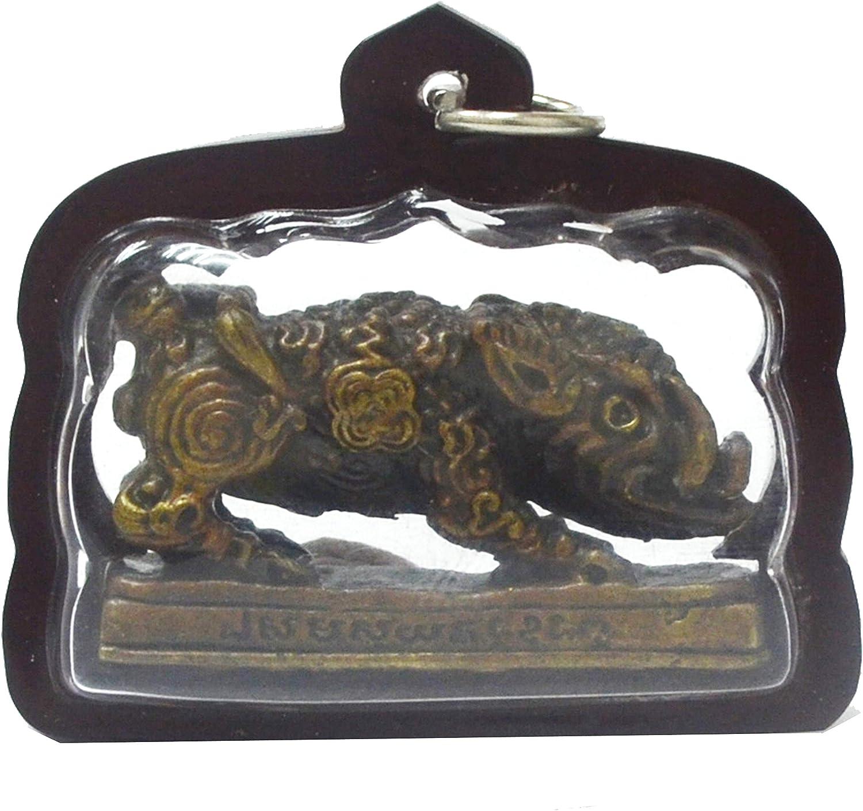 Lp Sothorn Pendant Thai Buddha Amulets Brass Magic Good Luck Wealth Protection