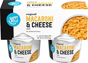 Amazon Brand - Happy Belly Original Macaroni & Cheese Cups, 2.05 oz (Pack of 4)