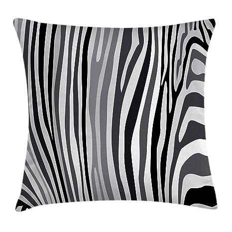Heekie Funda de cojín Decorative Cushion Case Cover, Zebra ...