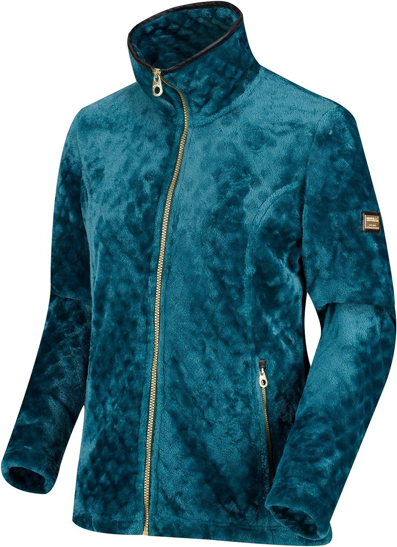 Regatta Damen Halona Full-Zip Diamond High Pile Leatherette Trim Fleece