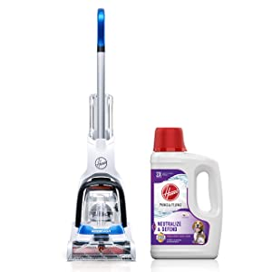 Hoover PowerDash Pet Carpet Cleaner with Paws & Claws Carpet Cleaning Solution with Stainguard (64 oz), FH50700, AH30925