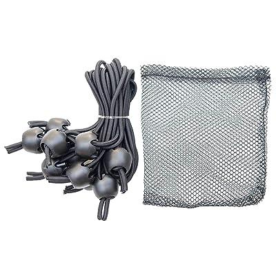 "Whitecap JB-100716B Jaw Bungee Black Premium Shock Cord w/1"" Ball (10/Bag): Automotive"