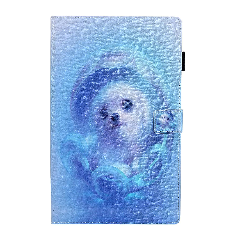 T510//T515 XTstore Funda para Samsung Galaxy Tab A 10.1 2019 Smart Case Cover Protectora Carcasa Cubierta de Cuero y Silicona con Ranura para Tarjeta con L/ápiz T/áctil Universal y Llavero Panda