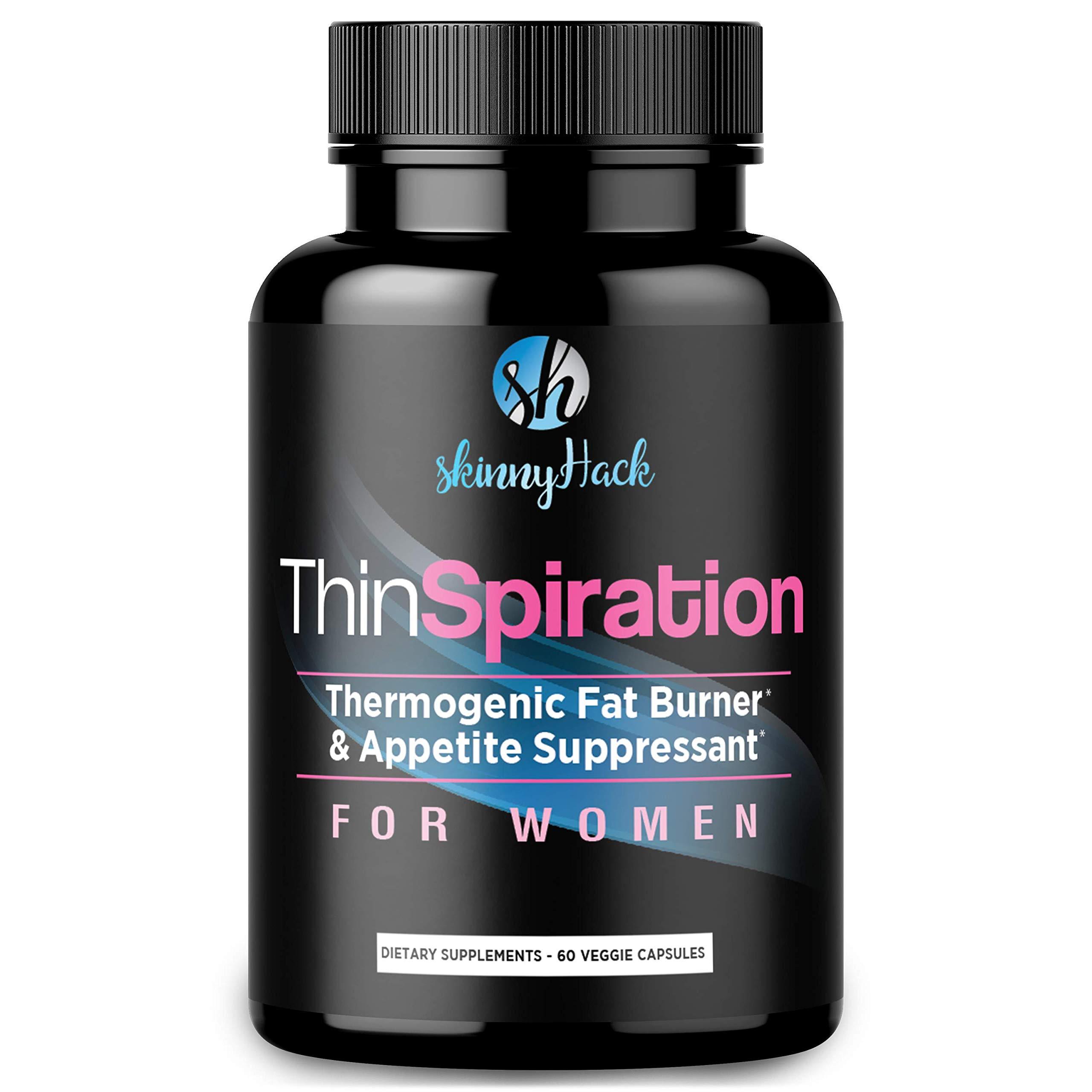 SkinnyHack - Thermogenic Fat Burner for Women - Weight Loss Pills, Metabolism Booster & Appetite Suppressant (60 Vegan Diet Pills for Women)