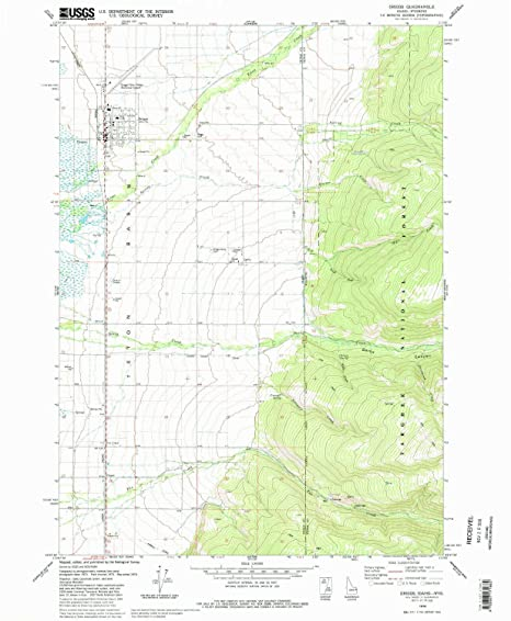 Amazon Com Yellowmaps Driggs Id Topo Map 1 24000 Scale 7 5 X 7 5