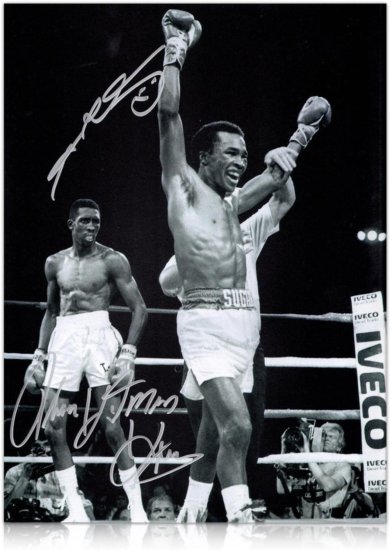 Foto Sugar Ray Leonard y Thomas Hearns boxeo Hitman Firmado: El ...