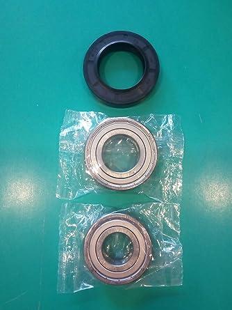 Kit rodamientos 6205ZZ SKF + 6204ZZ SKF junta para agua lavadora ...