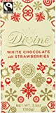 Divine Chocolate Bar, White Chocolate with Strawberries, 3.5 Ounce (Pack of 10)