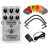 Dunlop MXR M116 Fullbore Metal Distortion Guitar Pedal with AC Power Supply, 2 Patch Cable and 6 Guitar Picks