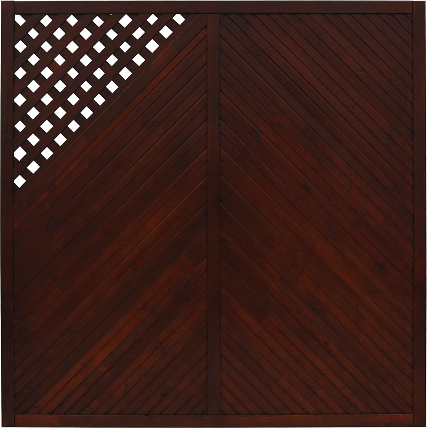 Andrewex wooden fence 180x 180, varnished, brown, garden fence, privacy, fencing panel