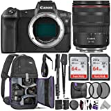 Canon EOS R Mirrorless Digital Camera with 24-105mm Lens w/Advanced Photo and Travel Bundle - Includes: Altura Photo Backpack, 2pcs SanDisk 64gb SD Card, Monopod, Neck Strap and Cleaning Kit