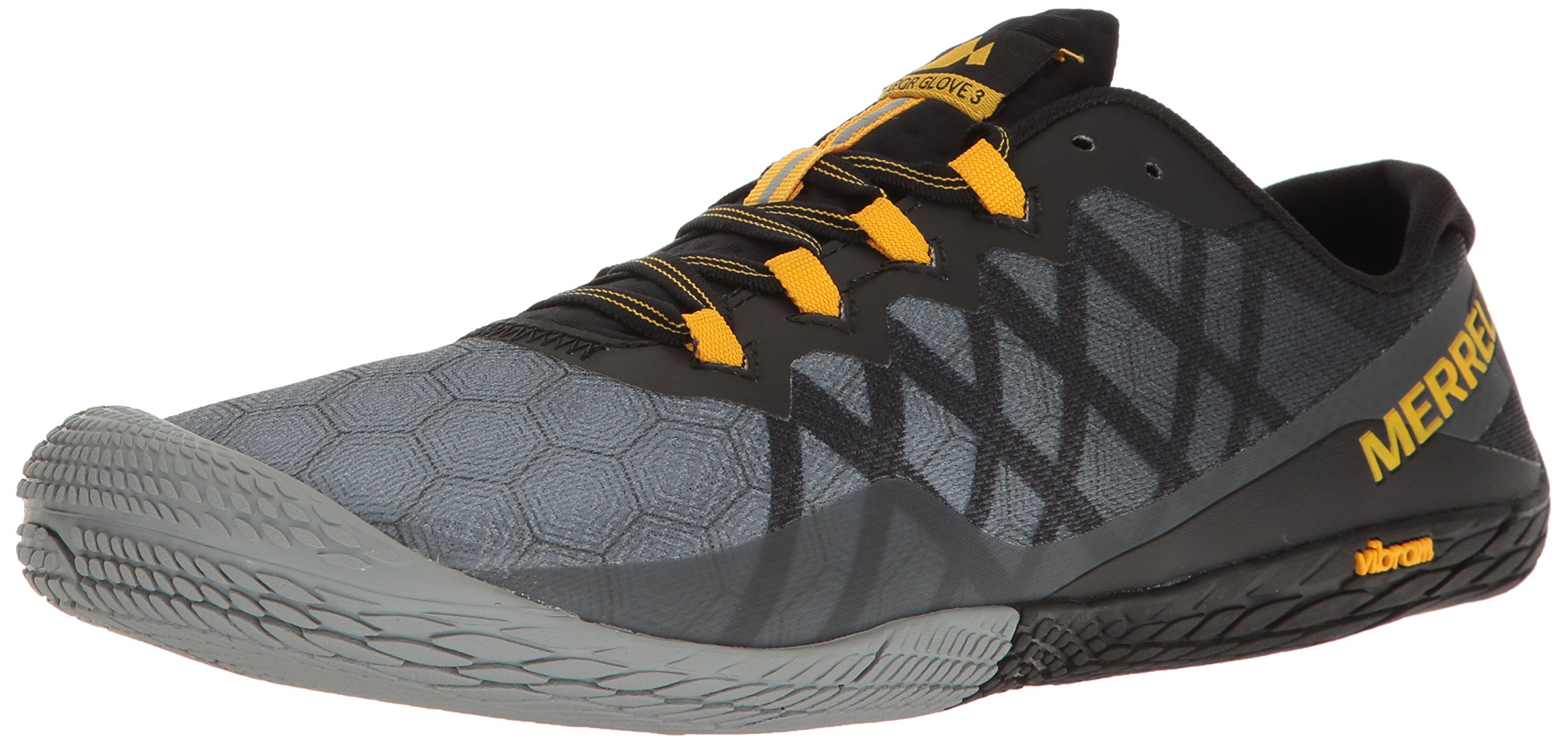 Merrell Men's Vapor Glove 3 Trail Runner, Dark Grey, 10 M US by Merrell