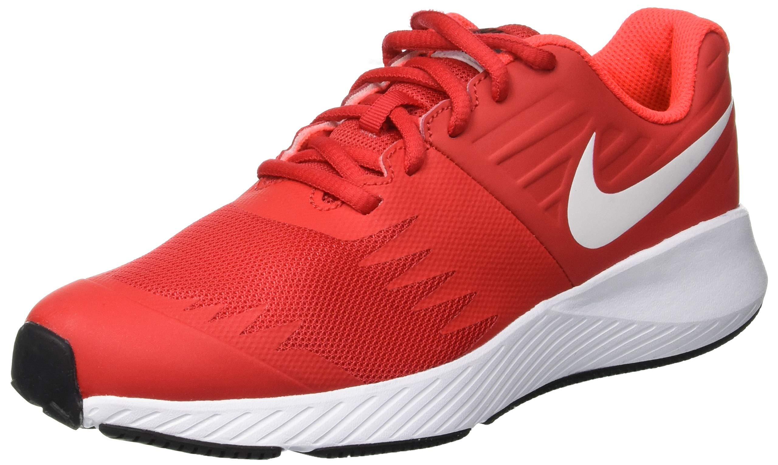 Nike Boy's Star Runner (GS) Running Shoe University Red/White/Black Size 3.5 M US