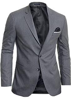 Mens Blazer Jacket Casual Formal Steel Blue UK Size Soft Cotton Regular Size