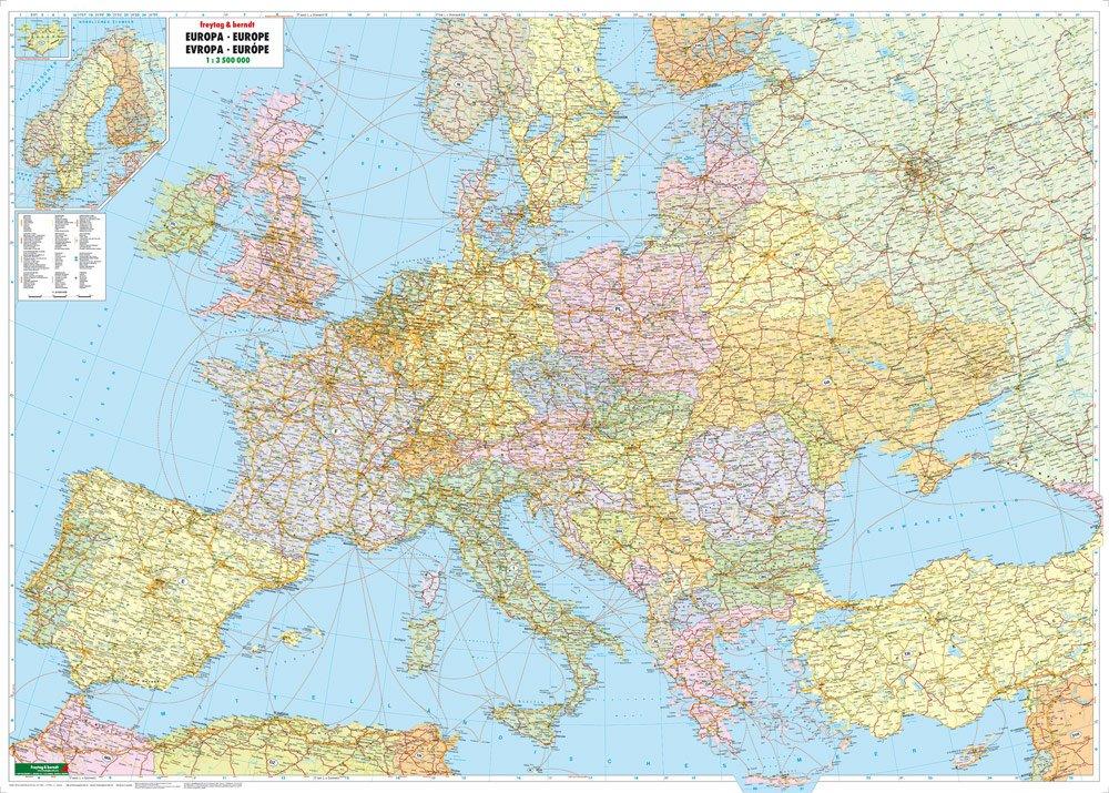 Europa Politisch 1 3 500 000 Poster Karte Mit Metallbestabung