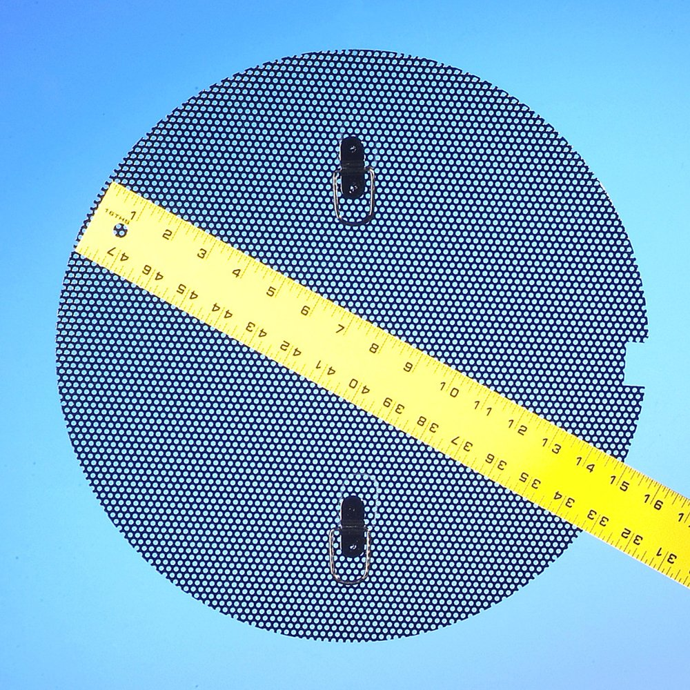 Fine Screen for New Pig Drum Funnel, For 18'' to 22'' Dia Burpless Funnels, 15'' Diameter, .125'' Dia Mesh Opening, Black, DRM600
