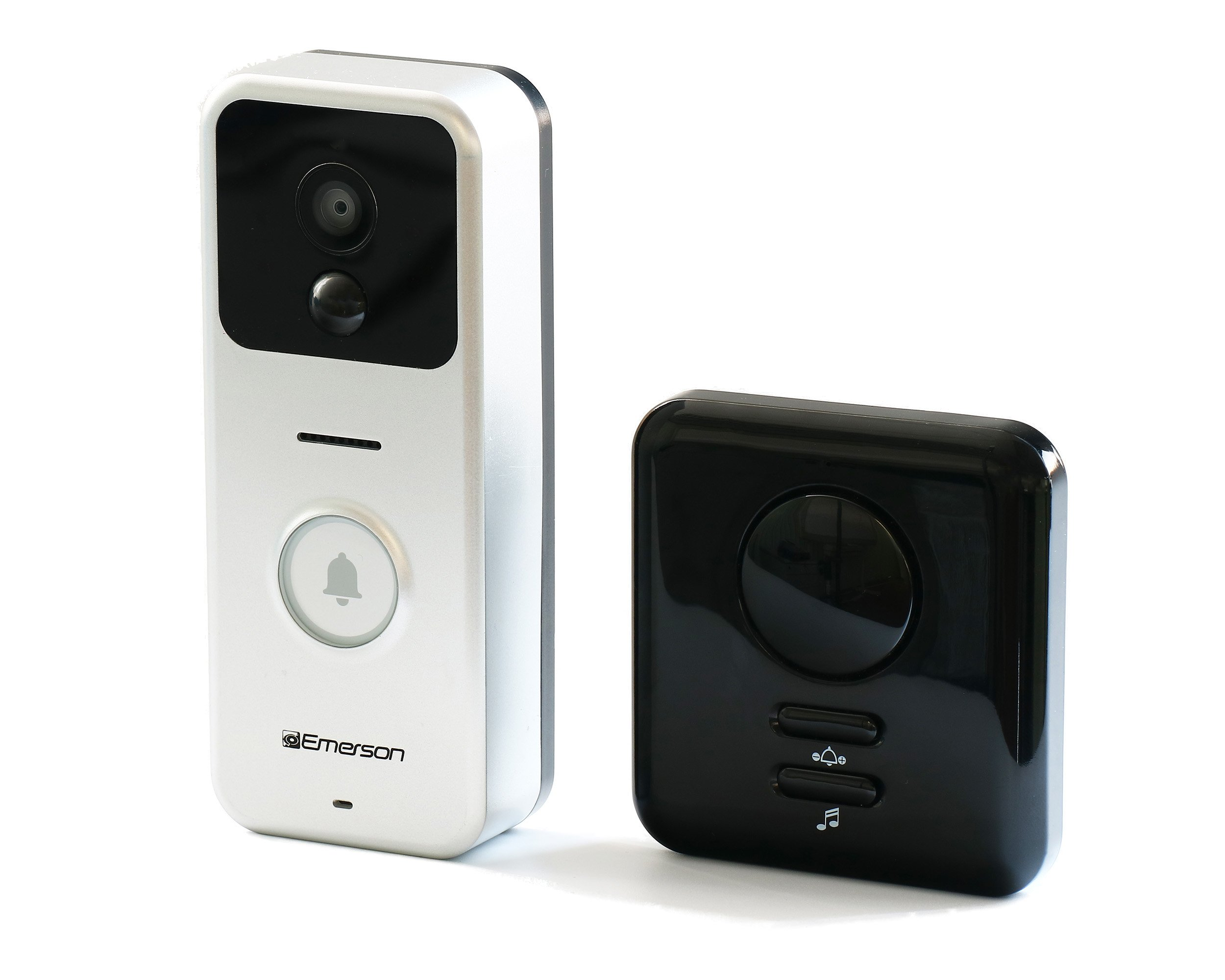 Emerson ER107001 Wifi Enabled Smart Video Doorbell with 2 Way Talk, Night Vision, Motion Activated Alerts