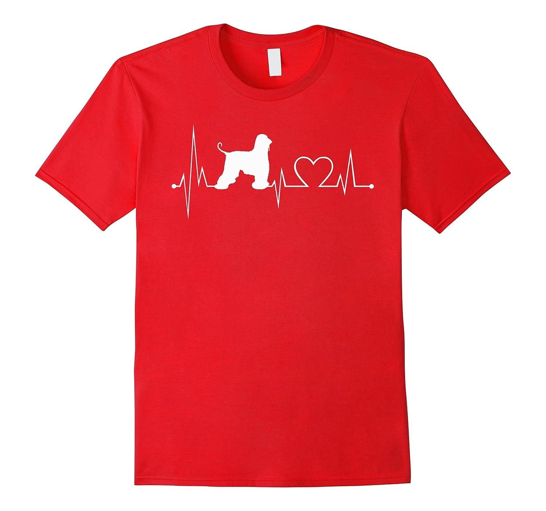 Afghan-Hound heartbeat shirt-dog lovers tshirt-Art
