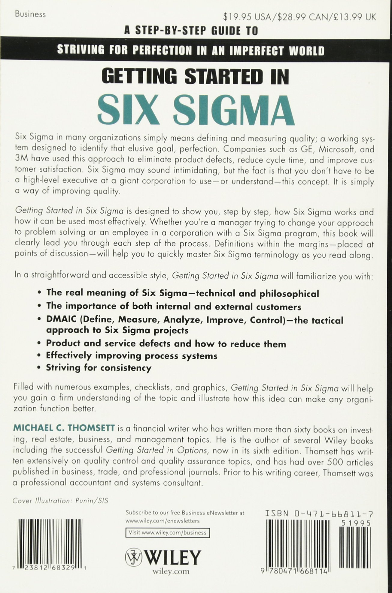 Amazon com: Getting Started in Six Sigma (9780471668114