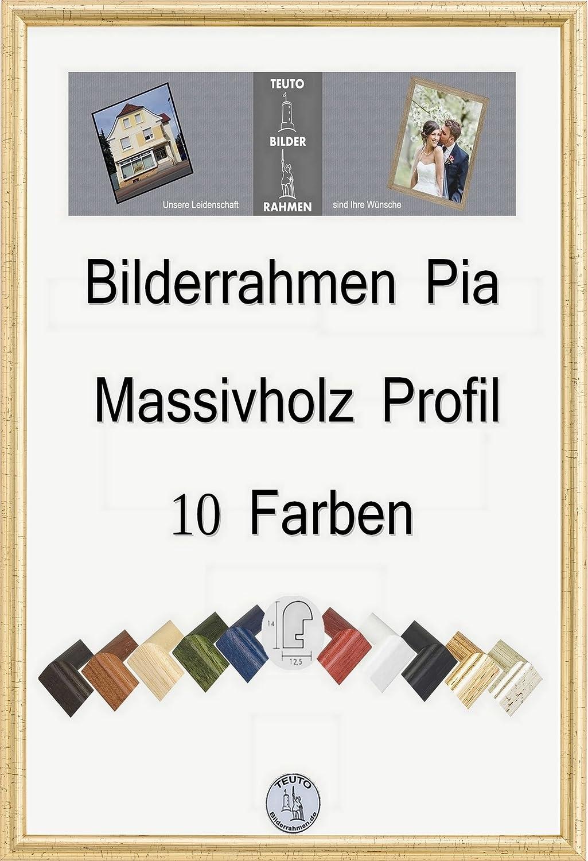 Pia Echtholz Bilderrahmen rund schmal 10 x 15 cm Größe frei wählbar ...