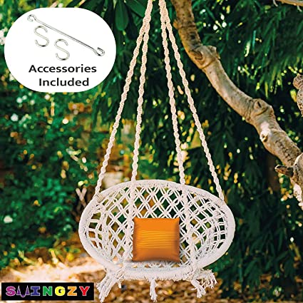 Swingzy Make In India, Cotton Hanging Swing For Adults, Hanging Swing for Kids, Swing for Baby,…