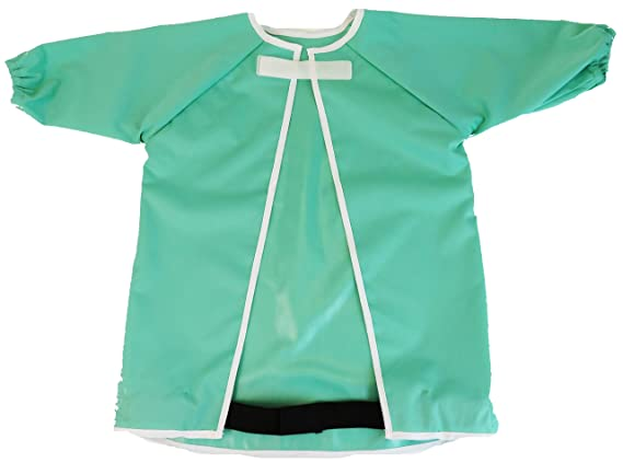 2 Pcs Baby Long Sleeve Bib A, 6-24 Months Toddler Childrens Waterproof Baby bib with Sleeves,Washable//Lightweight//Stain and Odor Resistant,Baby bib Shirt with Pocket,6-48 Months