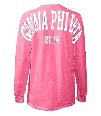 Amazoncom Fashion Greek Gamma Phi Beta Stadium Shirt Clothing