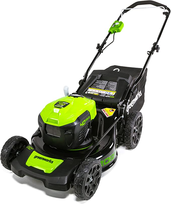 GreenWorks G-MAX MO40L00 40V 20'' Brushless Dual Port Lawn Mower - ​Best 3-in-1 Battery Lawn Mower