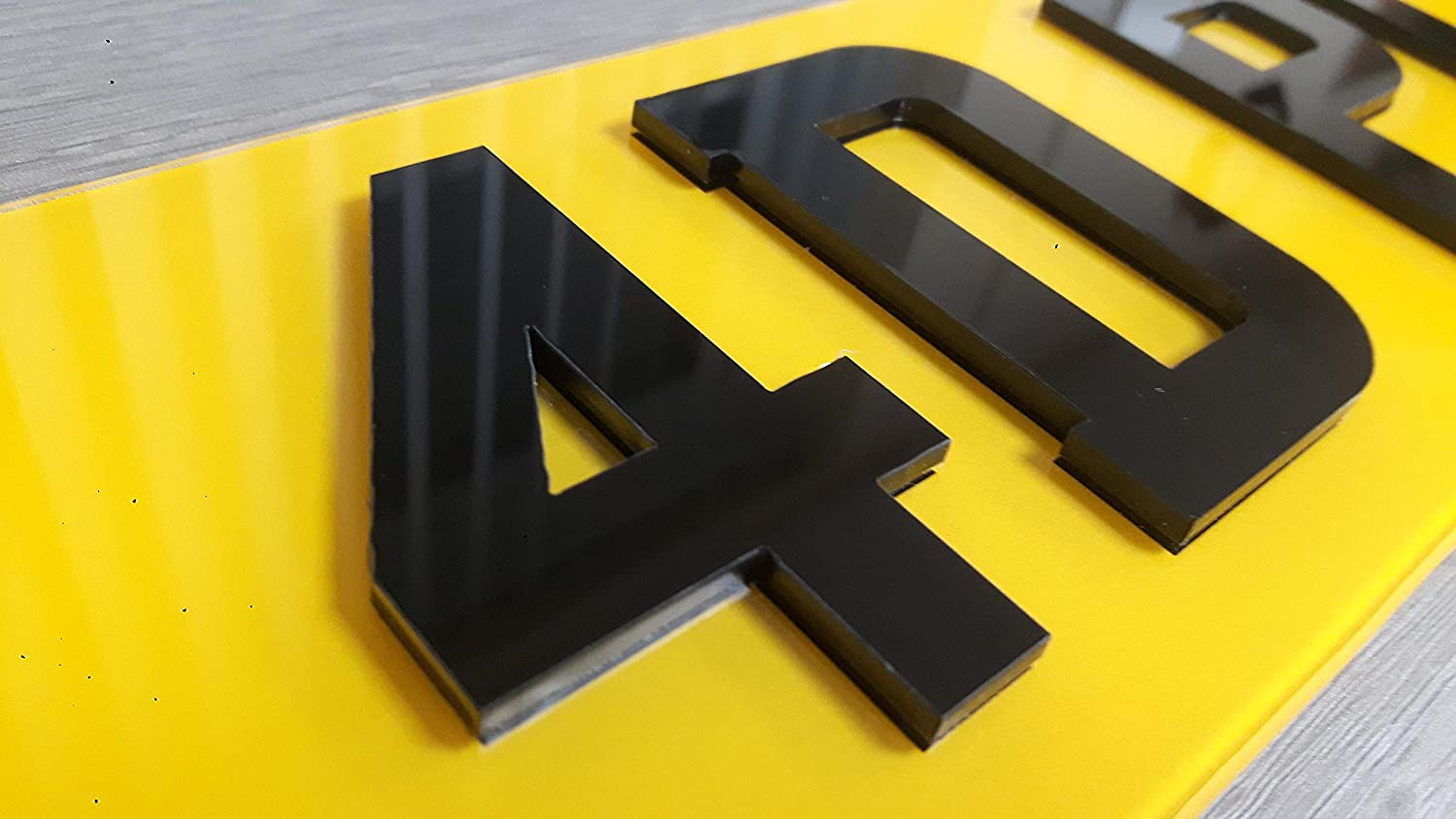 NO EXCEPTIONS Plate Services 4D PLATES 1 x PAIR ACRYLIC NUMBER PLATES 520mm x 111mm MADE TO LEGAL FORMAT ONLY