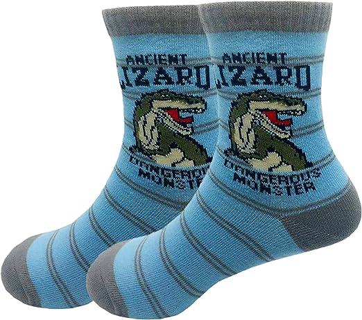 Cczmfeas Chaussettes Petit Gar/çon Coton Dinosaures Confort Chaussettes d/éQuipage 5 Paires