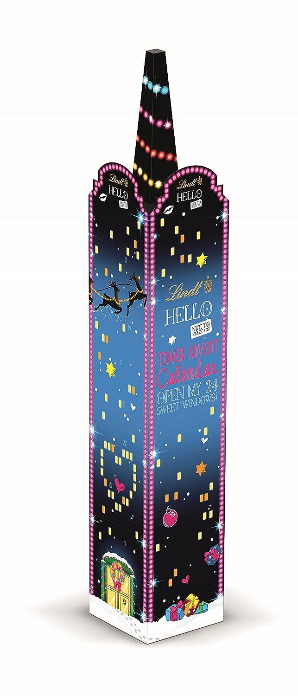 LINDT Hello Xmas Tower Calendrier de l'Avent, 1er Pack (1x 235g) 1er Pack (1x 235g) 7008