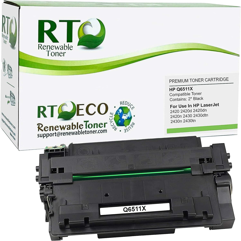 Renewable Toner Compatible Toner Cartridge High Yield Replacement for HP 11X Q6511X Laserjet 2420 2430