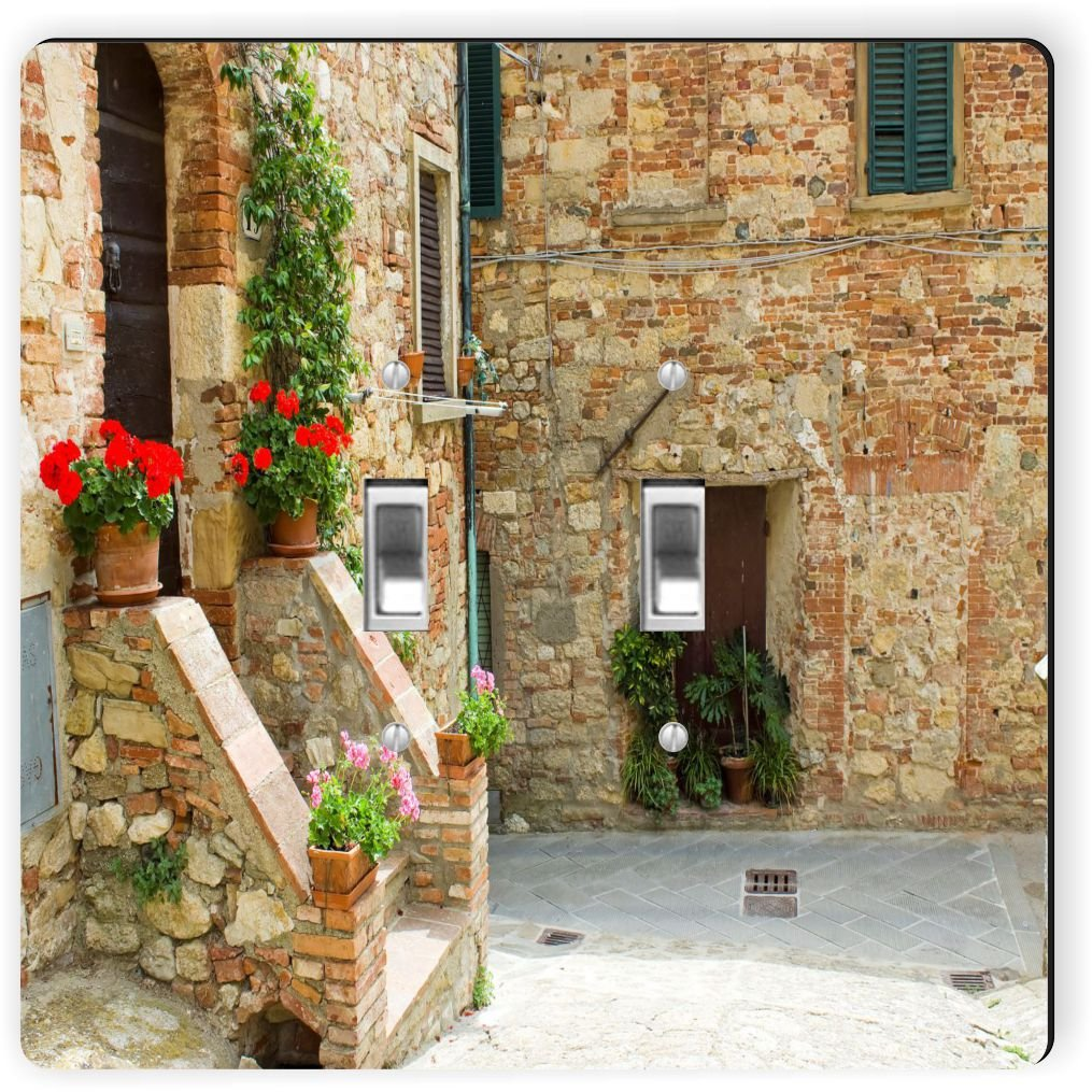 Rikki Knight 1139 Double Toggle Street In Tuscany Design Light Switch Plate